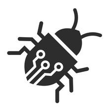 Circuit Bug Vector Icon