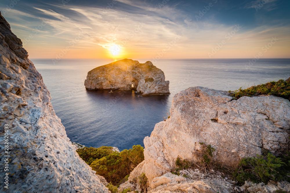 Fototapety, obrazy: Foradada Island in Sardinia, Italy.
