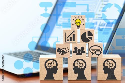 Carta da parati Knowledge management and business intelligence concept