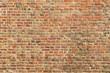 Leinwandbild Motiv Alte Mauer aus Ziegelsteinen als Hauswand