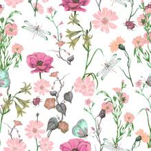 Seamless Floral Pattern Of Gar...