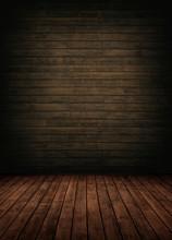 Brown Wooden Interior Room.