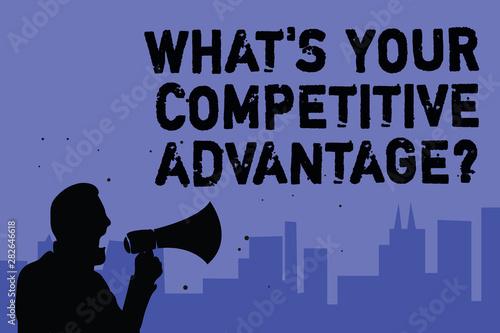 Obraz na plátně Text sign showing What s is Your Competitive Advantage question