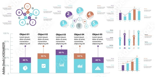 Creative business infographic design for analysis concept Canvas Print