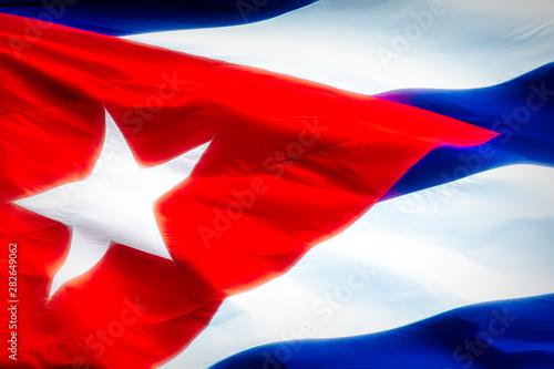 Cuban National Flag, creative view Canvas Print
