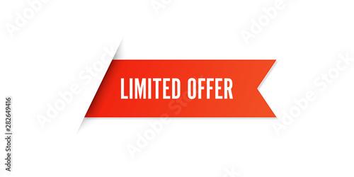 Fotografía Red Limited Offer Sale Label Vector Set Isolated stock illustration