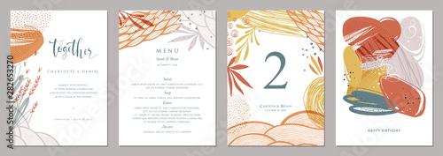 Fototapeta Invitation, menu, table number card design.  obraz