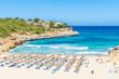 Strand von Cala Mandia Panorama Blick Sommer