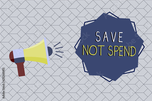 Valokuvatapetti Word writing text Save Not Spend