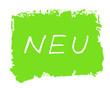 Leinwandbild Motiv Gemalte grüne grunge Textur mit Aufschrift Neu