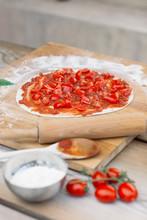 Preparing Of Pizza