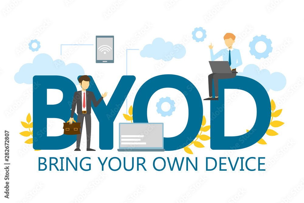 Fototapety, obrazy: BYOD bring your own device single word banner