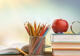 Fototapeta Kawa jest smaczna - Day international school teachers blackboard books brazil
