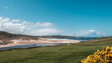 River Naver Joins Sea At Bettyhill In Scotland