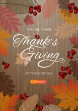 Thanksgiving Day Banner Backgr...