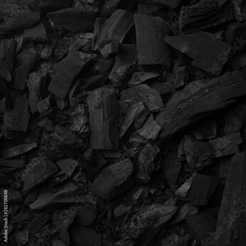 Black charcoal background for preparing grill food Wallpaper Mural