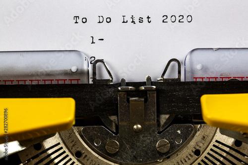 Photo  To Do List 2020
