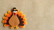 Felt Turkey Laying Flat On A T...