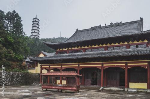 Mingyue Buddhist Temple, on Mingyue Moutain, Jiangxi, China
