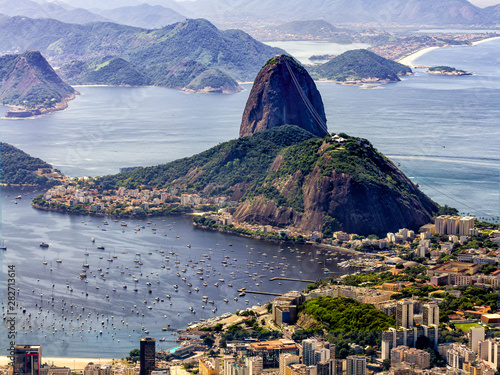 Photo  Sugar Loaf Mountain seen from the Corcovado Mountain, Rio de Janeiro
