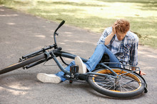 Young Man Fallen Off His Bicyc...
