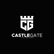 Letter C & G For Castle Gate Logo Design Unique