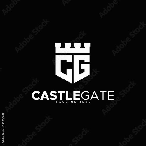 Fotografija letter C & G for castle gate logo design unique