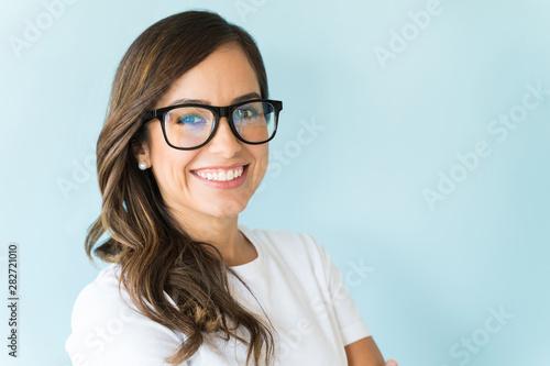 Confident Female Model In Studio