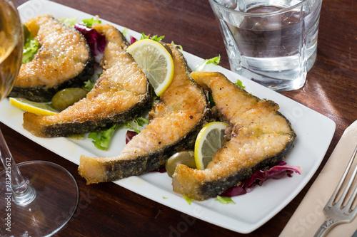 Tasty fish dish – roasted sturgeon