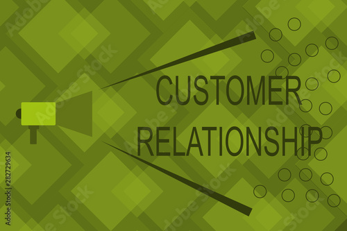 Photo Writing note showing Customer Relationship