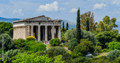 The Temple of Hephaestus in Athens Canvas Print