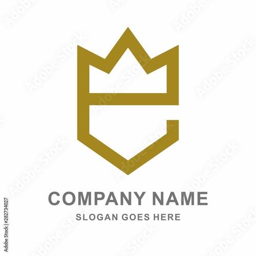 Letter E Crown Empire Logo Design Template Fototapeta