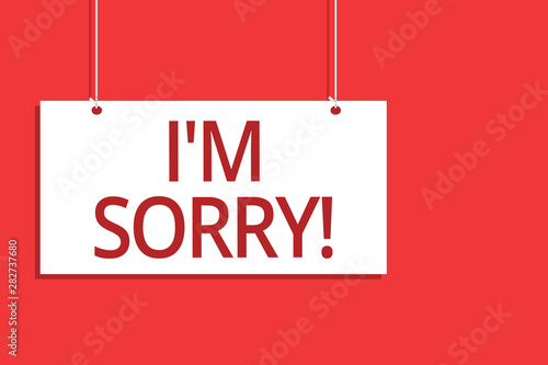 Word writing text I am Sorry Canvas Print
