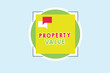 canvas print picture - Word writing text Property Value. Business concept for Worth of a land Real estate appraisal Fair market price.