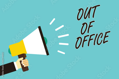 Fotografie, Tablou  Text sign showing Out Of Office