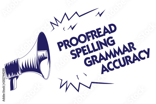 Writing note showing Proofread Spelling Grammar Accuracy Tablou Canvas
