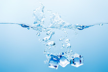 Pure Water With Splash, Bubble...
