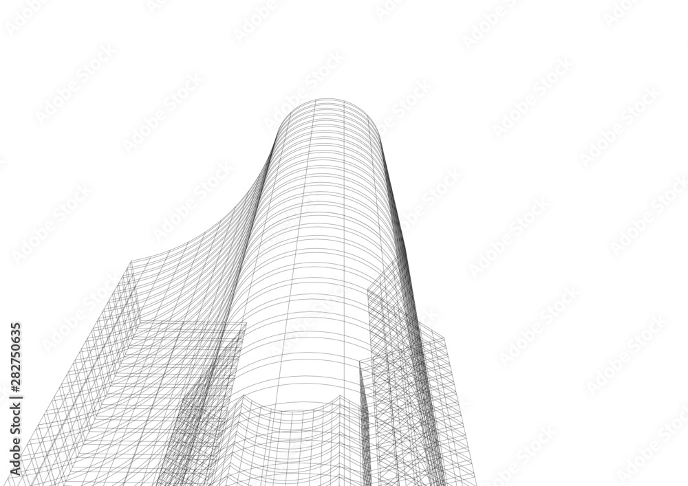 Fototapety, obrazy: architecture building 3d vector illustration