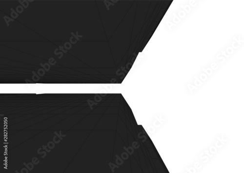 Fototapeta architecture building 3d vector illustration obraz na płótnie