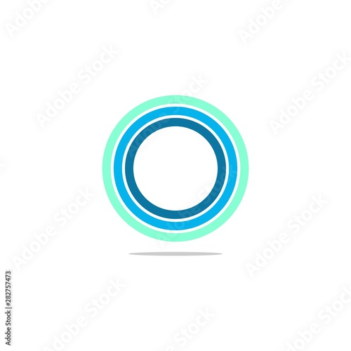 simple typography cirlce vector logo Wall mural