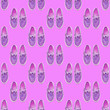 Leinwandbild Motiv Seamless pattern. Pink Vintage shoes. Use for t-shirt, greeting cards, wrapping paper, posters, fabric print.