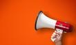 canvas print picture - Megaphone attention background advertisement amplifier announce announcement