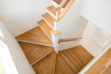 Pattern Of Wooden Stairs.