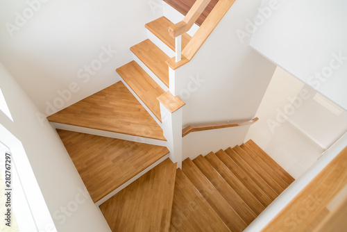 Pattern of Wooden stairs. - 282767297