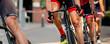 Detailaufnahme Radrennen