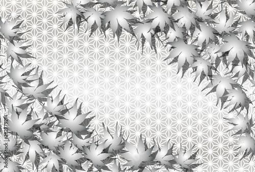 Background Wallpaper Vector Illustration Design Image Japan China Asia Free Size 背景 壁紙 ベクター イラスト デザイン 無料 無料素材 バックグラウンド フリー素材 イメージ 和風素材 日本 伝統模様 麻葉紋様 椛の葉 紅葉 秋 落葉 もみじ