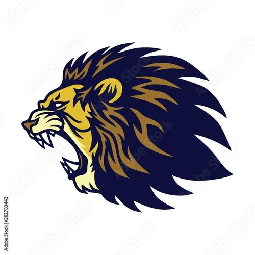 Fototapety, obrazy: Lion Roaring Logo Vector Esport Mascot Design