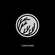 White Tumbleweed Vector Icon O...