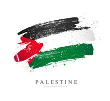 Flag Of Palestine. Vector Illustration On A White Background.