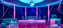 Nightclub Interior With Bright...